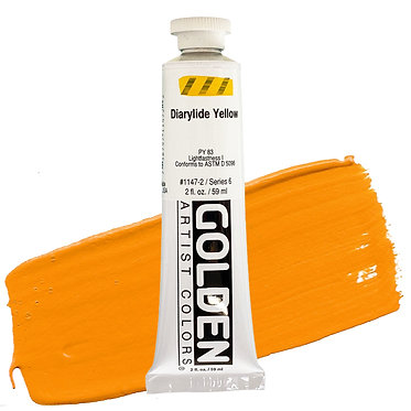 Acrylique Golden Heavy Body 59ml Jaune Diarylide 147 S6