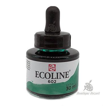 Encre Aquarelle Ecoline 30ml Vert Foncé 602