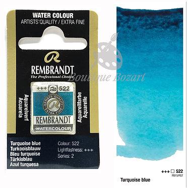 Aquarelle Extra-fine Rembrandt - Bleu Turquoise 522 série 2