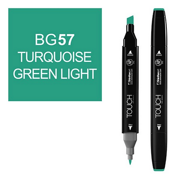 Touch Twin Brush / Marker BG57 TURQUOISE GREEN LIGHT