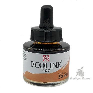 Encre Aquarelle Ecoline 30ml Ocre Foncé 407