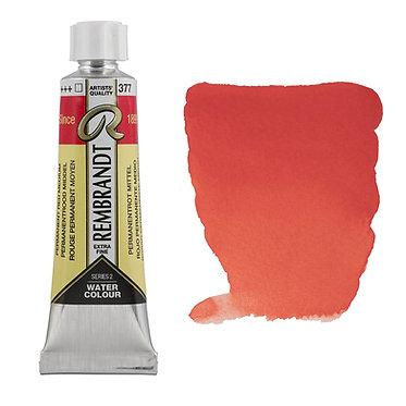 Aquarelle Extra-fine Rembrandt tube 10ml - Rouge Perm. Moyen 377 S2