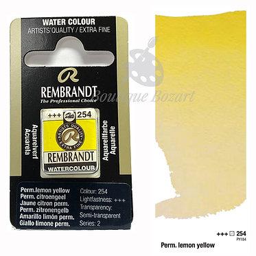 Aquarelle Extra-fine Rembrandt - Jaune Citron Permanent 254 série 2