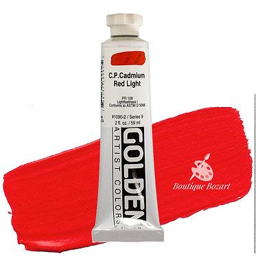 Acrylique Golden Heavy Body 59ml Rouge Cadmium Clair 090 S9