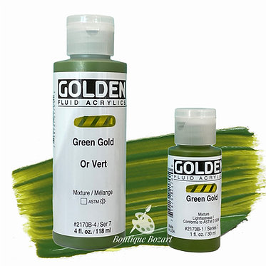 Golden Fluide Acryl - Green Gold S7