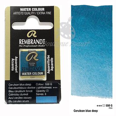 Aquarelle Extra-fine Rembrandt - Bleu Ceruleum Foncé 550G série 3