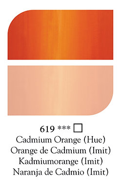 Huile Fine Georgian 225ml Orange Cadmium 619