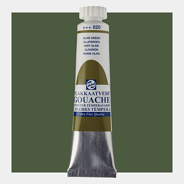 Gouache Extra-fine Quality Talens - Vert olive 620
