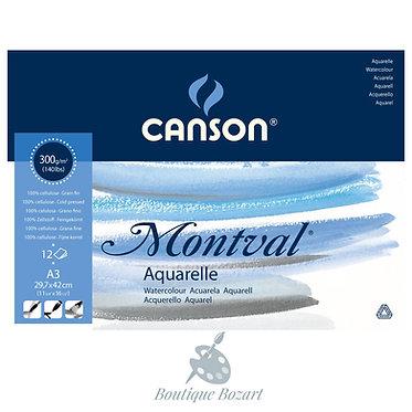 Bloc Montval 300g pour aquarelle Canson 4 formats