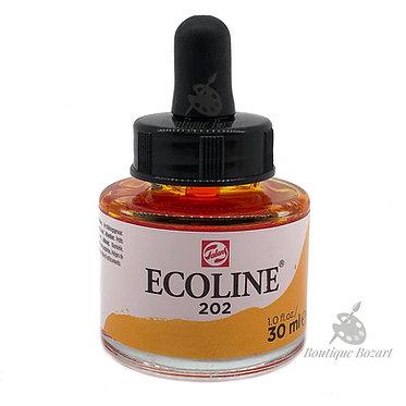 Encre Aquarelle Ecoline 30ml Jaune Foncé 202