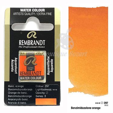 Aquarelle Extra-fine Rembrandt - Orange Benzimidazole 297 série 3