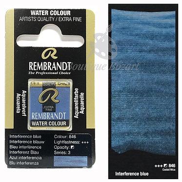Aquarelle Extra-fine Rembrandt - Bleu interference 846 série 3