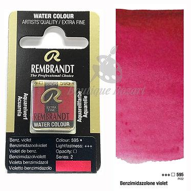 Aquarelle Extra-fine Rembrandt - Rouge Violet Benz. 595 série 2