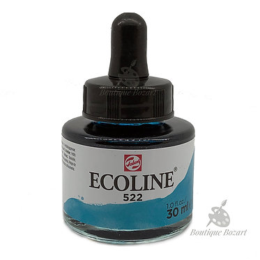 Encre Aquarelle Ecoline 30ml Bleu Turquoise 522