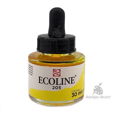 Encre Aquarelle Ecoline 30ml Jaune Citron 205
