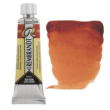Aquarelle Extra-fine Rembrandt tube 10ml - Orange Quinacridone 229 S2