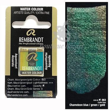 Aquarelle Extra-fine Rembrandt - Chameleon Bleu/vert/or 863 série 3