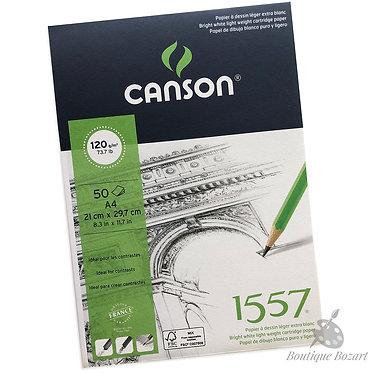 Bloc papier Dessin 1557 120g/m2 Canson