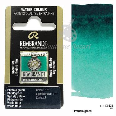 Aquarelle Extra-fine Rembrandt - Vert Phtalo 675 série 2