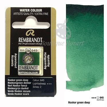 Aquarelle Extra-fine Rembrandt - Vert Hooker Foncé 645 série 2