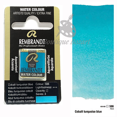 Aquarelle Extra-fine Rembrandt - Cobalt Turquoise Bleu 586 série 3