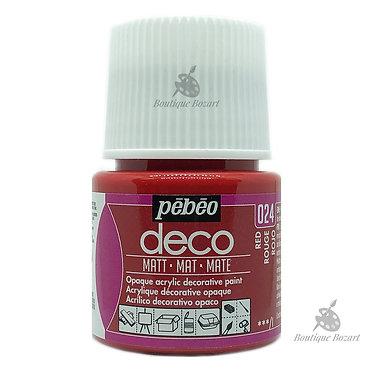 Peinture décorative opaque Deco Mat Rouge 024