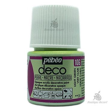 Peinture décorative opaque Deco Nacré Vert clair 106