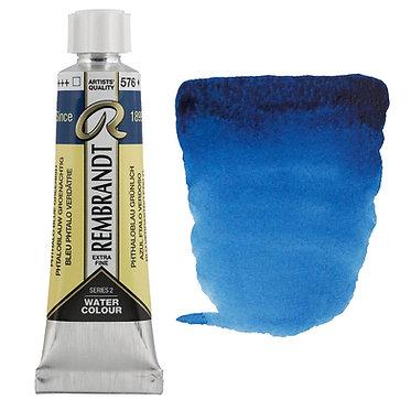 Aquarelle Extra-fine Rembrandt tube 10ml - Bleu Phtalo Verdâtre 576 S2