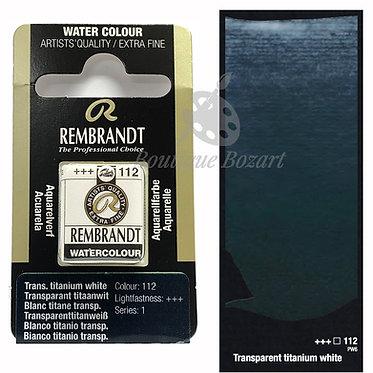 Aquarelle Extra-fine Rembrandt - Blanc Titane Transparent 112 série 1