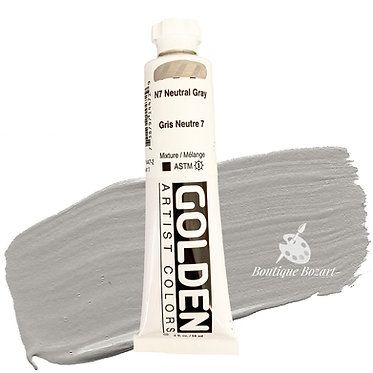 Acrylique Golden Heavy Body 59ml Gris Neutre N7 447 S1