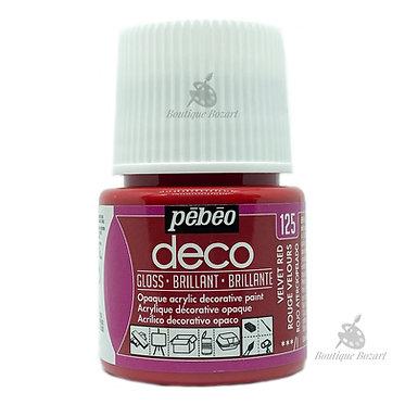 Peinture décorative opaque Deco Brillant Rouge velour 125