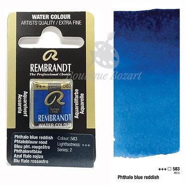 Aquarelle Extra-fine Rembrandt - Bleu Phtalo Rougeâtre 583 série 2