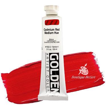 Acrylique Golden Heavy Body 59ml Rouge Cadmium Moyen 552 S4