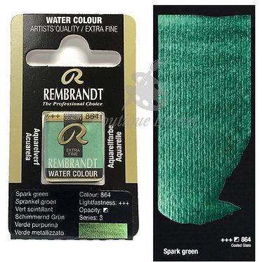 Aquarelle Extra-fine Rembrandt - Vert Scintillant 864 série 3