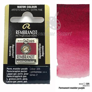 Aquarelle Extra-fine Rembrandt - Laque Gar. Perm. Pourpre Cl. 325 série 2