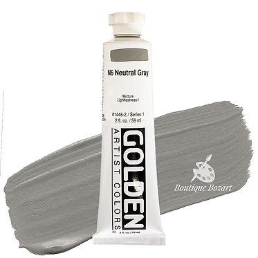 Acrylique Golden Heavy Body 59ml Gris Neutre N6 446 S1