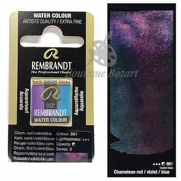 Aquarelle Extra-fine Rembrandt - Chameleon Rouge/violet/Bleu 861 série 3