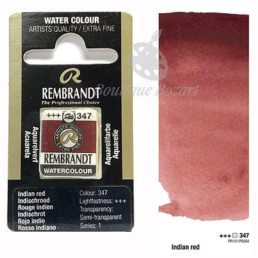 Aquarelle Extra-fine Rembrandt - Rouge Indien 347 série 1