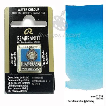 Aquarelle Extra-fine Rembrandt - Ceruleum Bleu (Phtalo) 535 série 2