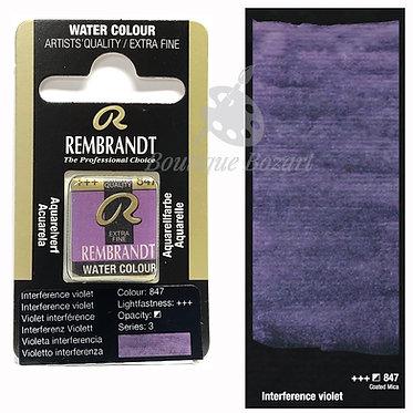 Aquarelle Extra-fine Rembrandt - Violet interference 847 série 3