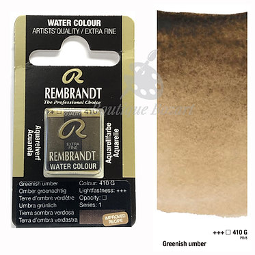 Aquarelle Extra-fine Rembrandt - Terre d'Ombre Verdâtre 410G série 1