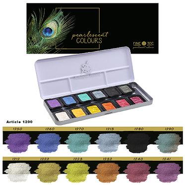 """FINETEC 1200S - 12 couleurs nacrées """"Rainbow"""""""