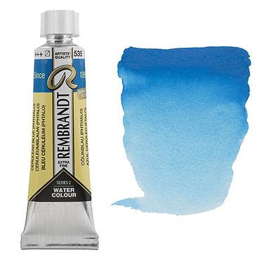 Aquarelle Extra-fine Rembrandt tube 10ml - Bleu Ceruleum (Phtalo) 535 S2