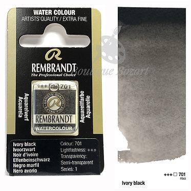 Aquarelle Extra-fine Rembrandt - Noir d'Ivoire 701 série 1