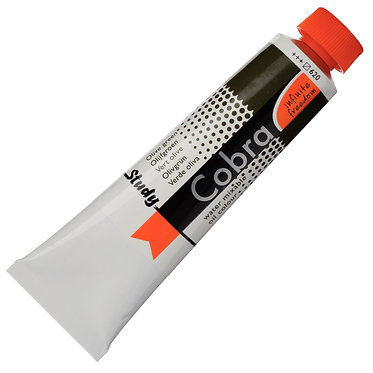 Huiles dilluable à l'eau Cobra Study Vert Olive 620