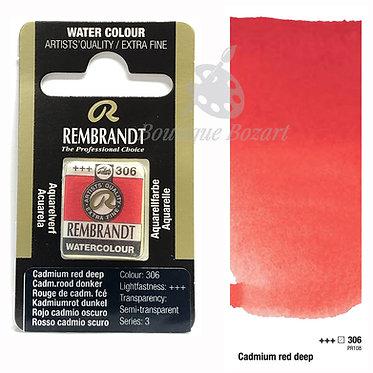 Aquarelle Extra-fine Rembrandt - Rouge Cadmium Foncé 306 série 3