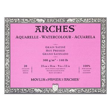 Bloc Arches grain satiné 300g 4 formats