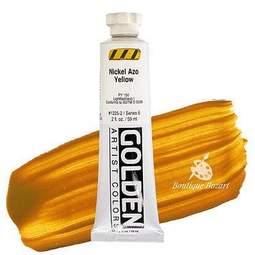 Acrylique Golden Heavy Body 59ml Jaune Azo Nickel 225 S6