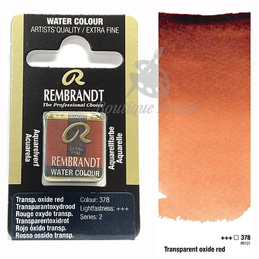 Aquarelle Extra-fine Rembrandt - Rouge Oxyde Transparent 378 série 2