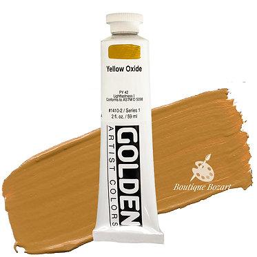 Acrylique Golden Heavy Body 59ml Jaune Oxide 410 S1